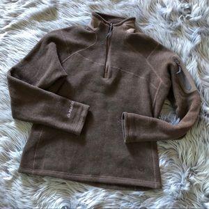 Mountain hardware brown quarter zip jacket